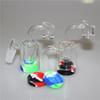Glass Reclaim Catcher handmake with 14mm joint Quartz Banger nail for dab rig glass bong free shipping