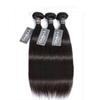 Grade 7A Brazilian Straight Hair Virgin Human Hair Weaves Bundles Natural Color Double Wefts Unprocessed Hair Extensions 1pc lot 100g