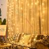 window curtain lights LED Christmas Wedding Party Fairy String Lights Lamp 3m*3m 8 Modes Function LED strip