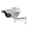Dummy Camera Solar + Battery Powered Flicker LED Outdoor Fake Surveillance Home Security Camera Video