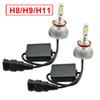 LEEWA Super White H11 60W 6400LM Car COB LED Headlight Kit Fog Lamp Bulbs Light Xenon 6000k #2403