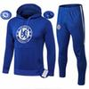 1819Survetement HAZARD,DIEGO COSTA,OSCAR training suit hooded tracksuits tight pants sportswear blue