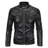 Puimentiua Men Leather PU Warm Jacket 2018 Spring Autumn Fashion Male Windbreaker Motorcycle Jacket Streetwear Clothes Coats