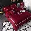 Wholesale Classic 2-colour Embroidery Bedding Suit Brand Design Top Quality Spring Summer Bed Sheet 4PCS Sets For Men And Women