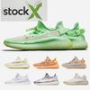 2019 v2 v3 Kanye West True Form Hyperspace Clay Mens Women Running Shoes With Sock X Semi Frozen Yellow Sesame Sport Sneakers