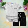 New Spring Luxury Designer Baby Boy's t-shirt Pants Two-piec 2-7 years olde Suit Kids Brand Children's 2pcs Cotton Clothing Sets