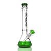 Beaker bong with logo new design green beaker base grace water pipe ice catcher 14-18mm downstem tall 16""