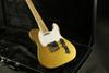 Gold Top TL Electric Guitar Brass Saddles Bridge Strings Thru Body Good Finish ,C Shape Neck,White Pickguard
