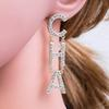 2019 New Designer Earrings Designer Jewelry Luxury Designer Jewelry Women Earrings Diamond Earrings Alloy Rhinestone Ladies