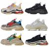 2019 Fashion Paris 17FW Triple S Sneaker Beige White Black Pink Triple-S Casual Dad Shoes For Men's Women Designer Sports Sneaker