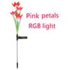 RGB 빛 핑크 꽃잎