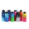 Water Bottle Vacuum Insulated Stainless Steel Sport Bottle Gradient Color Wide Mouth Big Capacity Bottle with Straws Lids 32oz