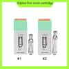 Alpine Vapor Live Resin cartridges 0.5 1.0ml Cotton coil Cartridge Vape Pen Carts Pyrex Glass 9 flavors for option 0266254