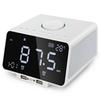 Led Alarm Clock Fm Radio,With Wireless Bluetooth Speaker Player,Usb Fast Charge Port, Tf Card Play,Indoor Temperature