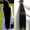 28 30 32 34 36 40 Inches Unprocessed Brazilian Virgin Hair Straight Bundles 10-26 Inches Body Deep Water Wave Kinky Curly Hair Extensions
