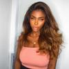 Ombre Full Lace Human Hair Wigs With Baby Hair Two Tone Brazilian Remy Wig 150density Natural Wave Full Lace Wig