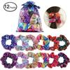 Women Elegant Solid Elastic Hair Bands Ponytail Holder Scrunchies Tie Hair Rubber Band for Girls Headband Lady Hair Accessories C12