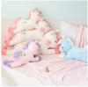 Unicorn Plush Doll Kids with Striped Rainbow Blanket Unicorn Dolls Baby Toys Stuffed Cotton Super Soft