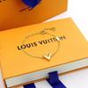 Women Brand Designer l v Pendant Bracelet Luxury 18K Gold Plated earrings Louis Chain Necklace Jewelry Couple Gift