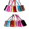 Premium Pink Letter Card Holder Lanyard Zip ID Card Bag Money Pocket Coin Purse Phone Straps with Neck String 10 Colors