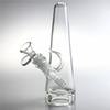 8 Inch Medium Triangle Glass Bong Water Pipes with 14mm Female Downstem Thick Glass Bottom Dab Rig Bongs Hookahs Beaker Recycler Bowl Pipe