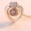 Розовое золото двойное сердце