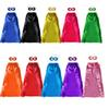 110*70cm one-layer lace-up plain superhero cape for adults with masks Satin 10 colors Halloween superhero theme cosplay costumes cape