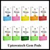 Authetnic UptownTech Gem Pods New Package 1.0ml Capacity No Leakage Cartridge 10 Flavor Option ZIIP COCO Compatible Prefilled Pods