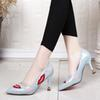 Designer Dress Shoes Fashion Women High Heels 2019 New Pumps Women Spring Summer Printed Lips Wedding Party Women Woman Size 34-39