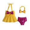 2019 Ins new kids swimwear girls Bikinis bows Girls Swimwear 3pcs set Kids Bathing Suits Child Sets Beachwear baby Swim Suits A5153