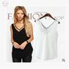 2019 New Details About Lace Casual Womens V-Neck Vest Summer Loose Sleeveless Tank Tops Blouse Free Shipping