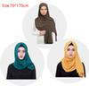 Chiffon Sarves Hijabs For Women Plain Color Head Shawl For Islamic Women Muslim