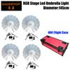 4IN1 Red Color Flightcase Pack Indoor RGB Led Umbrella Professional Stage Lighting CMY Color Mixing 145cm Open Diameter TP-UM34
