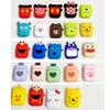 Portable Silicone Skin Shockproof Airpod Case Iphone Bluetooth Earphone Protective Cover nice cartoon with Lanyard For Apple Airpods