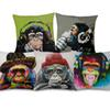 5 Styles Hipster Chic Gorilla Monkey Cushion Covers Thinking Gorilla Painting Art Cushion Cover Bedroom Decorative Linen Pillow Case