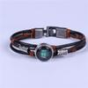 Multi-Layer Zodiac Constellations Bracelet New Design Lucky Stars Wish Good Luck Bangle Leather Bracelets For Men Women Jewelry