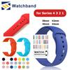 Silicone strap band for Apple watch band Strap 40mm 44mm 42mm 38mm bracelet Rubber watchband for Series 4 3 2 1 Apple watch