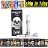 Dank Vapes Cartridge New Black Pack 510 Thread 1.0ml 1 Gram Ceramic Coil Vape Carts 2.0mm Intake Hole for Thick Oil at202-1