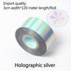 Holográfica tira-3 centímetros de largura * 120 metros