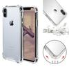 Transparent Shockproof Acrylic Hybrid Armor Bumper Soft TPU Frame PC Hard Case Cover for iPhone XR XS MAX 8 7 Samsung S10 Plus