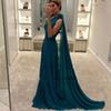 Plus Size Cheap Green Prom Dresses 2020 One Shoulder Simple Chiffon vestidos de fiesta de noche Evening Party Gown