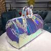 New European Classic Luxury Style Lady's fishone bag Laser flash pvc sexy party Brilliant colour transparent travel bag party bag