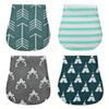 New Baby Burp Cloths Baby Bibs 100% Cotton Waterproof Layer for Boys Girls 3 Layers 48*23cm Ins B11