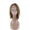 ZXTRESS Brazilian Virgin Human Hair Wig For Women Straight Short Bob Human Hair Wigs Capless Side Part Mixed Brown Color Free Shipping