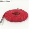 1263 Rot + Silber Spitzen 100 cm
