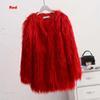 معطف الفرو الأحمر فو
