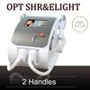 2 Handles OPT SHR Machine SHR Fast Hair Removal Elight Skin Care Beauty Equipment SHR Rapid hair removal