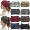 INS Big Girls Colorful Knitted Crochet Twist Headband Mom Winter Ear Warmer Elastic Hair Band Wide Heather Beanie Cap Hair Accessories