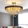 New design high class crystal chandelier lighting gold creative leather chandeliers light pendant lamps for living room bedroom dinning room
