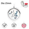 music note YL 25mm Aromatherapy Locket Perfume Essential Diffuser Locket pendant As Gift one free pad